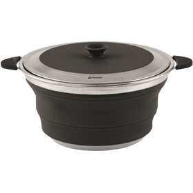 Outwell Collaps Pot with Lid 4500ml Midnight Black